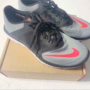 NIKE FS Lite Run 3 Shoes, Black/Grey/Red,